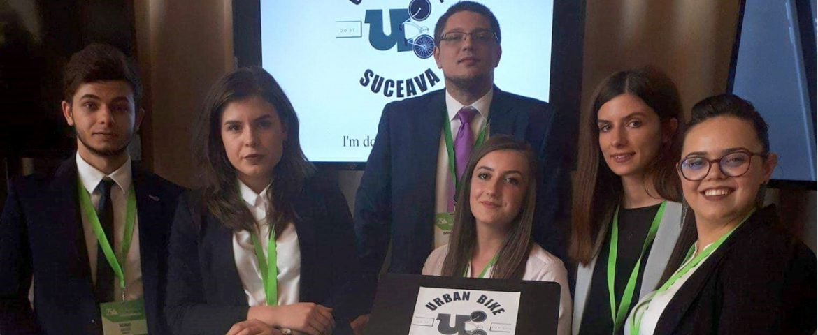 "Echipa de studenți USV în finala națională ""Company of the year 2018 Junior Achivement Romania"""